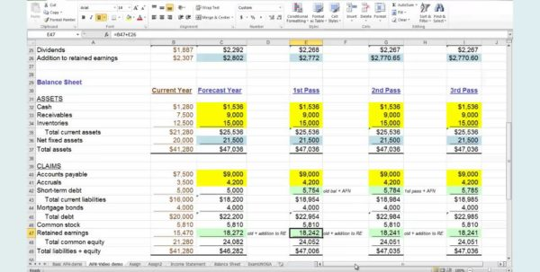 Acap Financial Planning Excel Spreadsheet