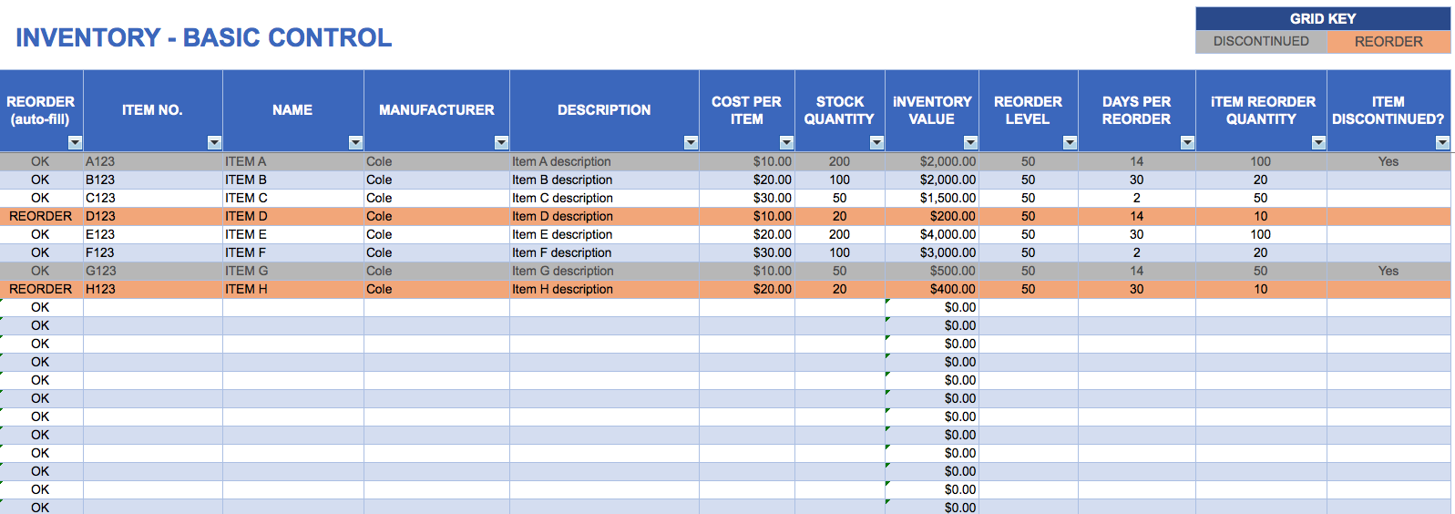 Asset List Template Excel