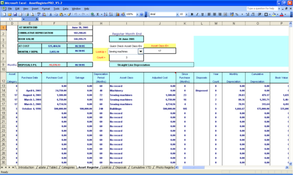Asset Management Excel Format Download