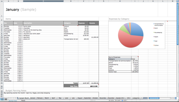Bill Payment Schedule Excel Spreadsheet