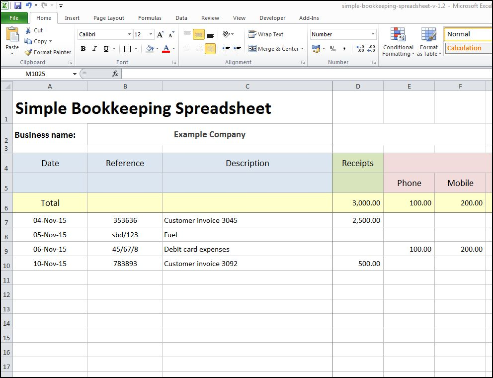 Easy Bookkeeping Spreadsheets Bookkeeping Spreadsheets For Excel Bookkeeping Spreadsheet Using Microsoft Excel Simple Bookkeeping Spreadsheet Template Simple Bookkeeping Examples Simple Business Spreadsheet Accounting Simple Bookkeeping Format
