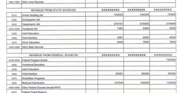 Budget Template Pdf Budget Template Sample Budget Spreadsheet