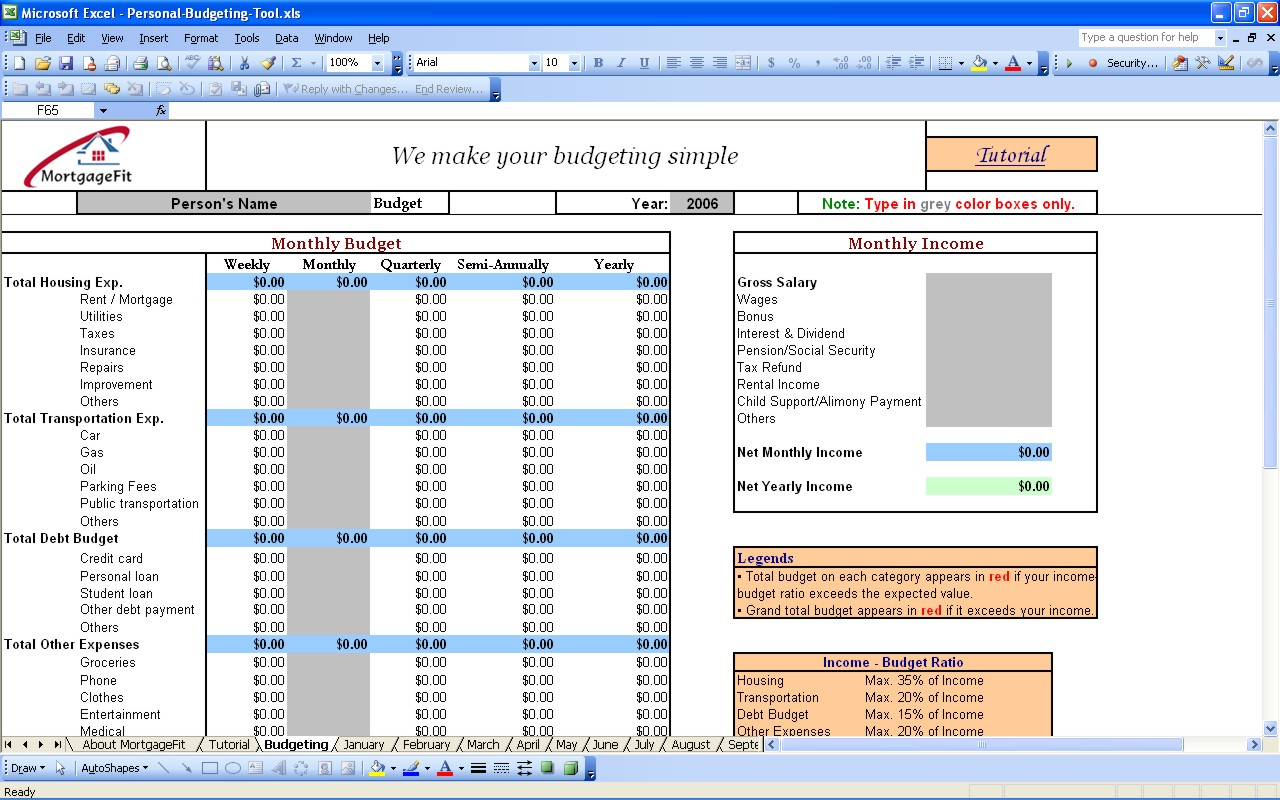 budgeting tool excel excel spreadsheet templates budget