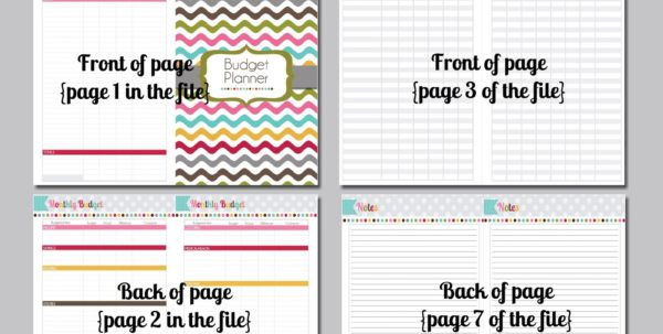 Budget Tracker Worksheet 1
