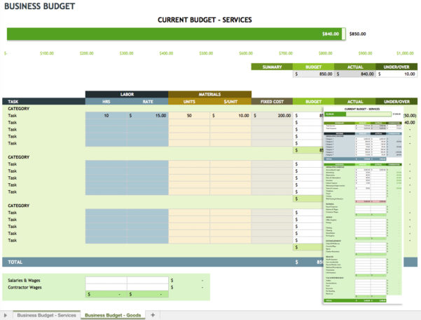 expense tracking template