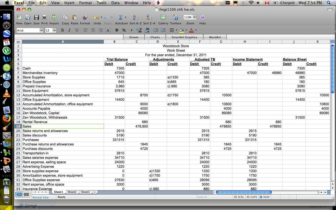 Cash Flow Statement Worksheet