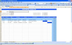 Check Register Template Excel 2007