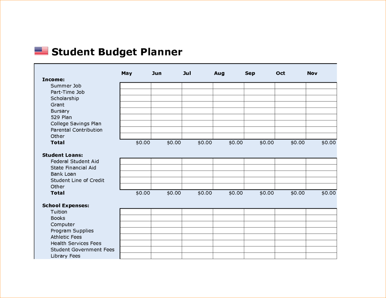 Budget Excel Spreadsheet Business Plan