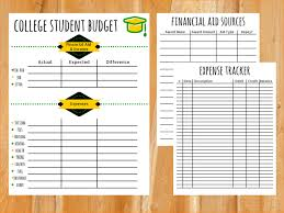 College Student Budget Example