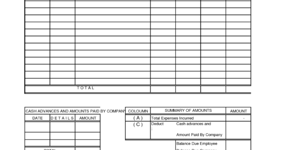 Construction Company Expense Report