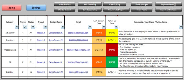 Customer Tracker Excel Template