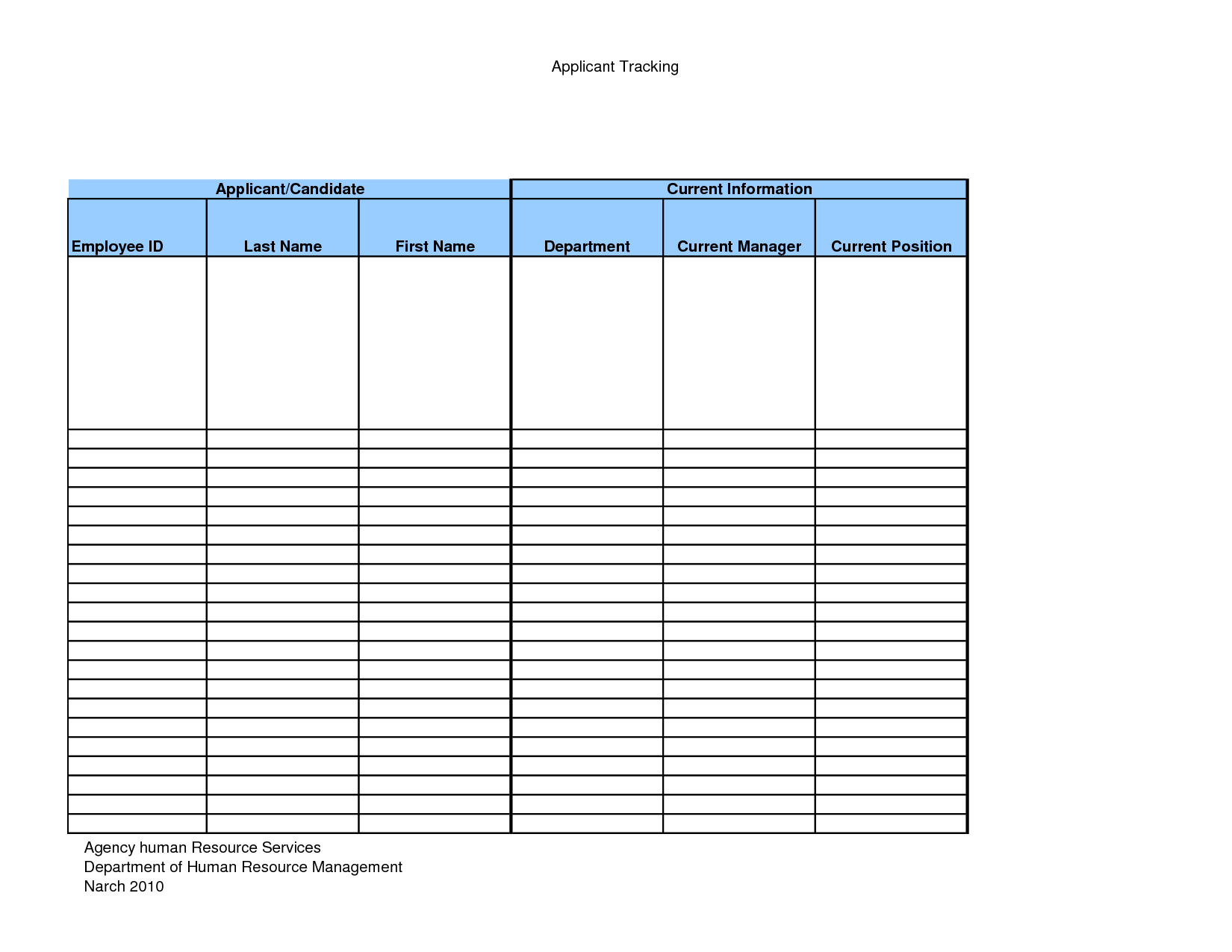 Daily Recruitment Report Template
