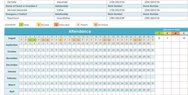 Employee Attendance Tracker Excel 2016