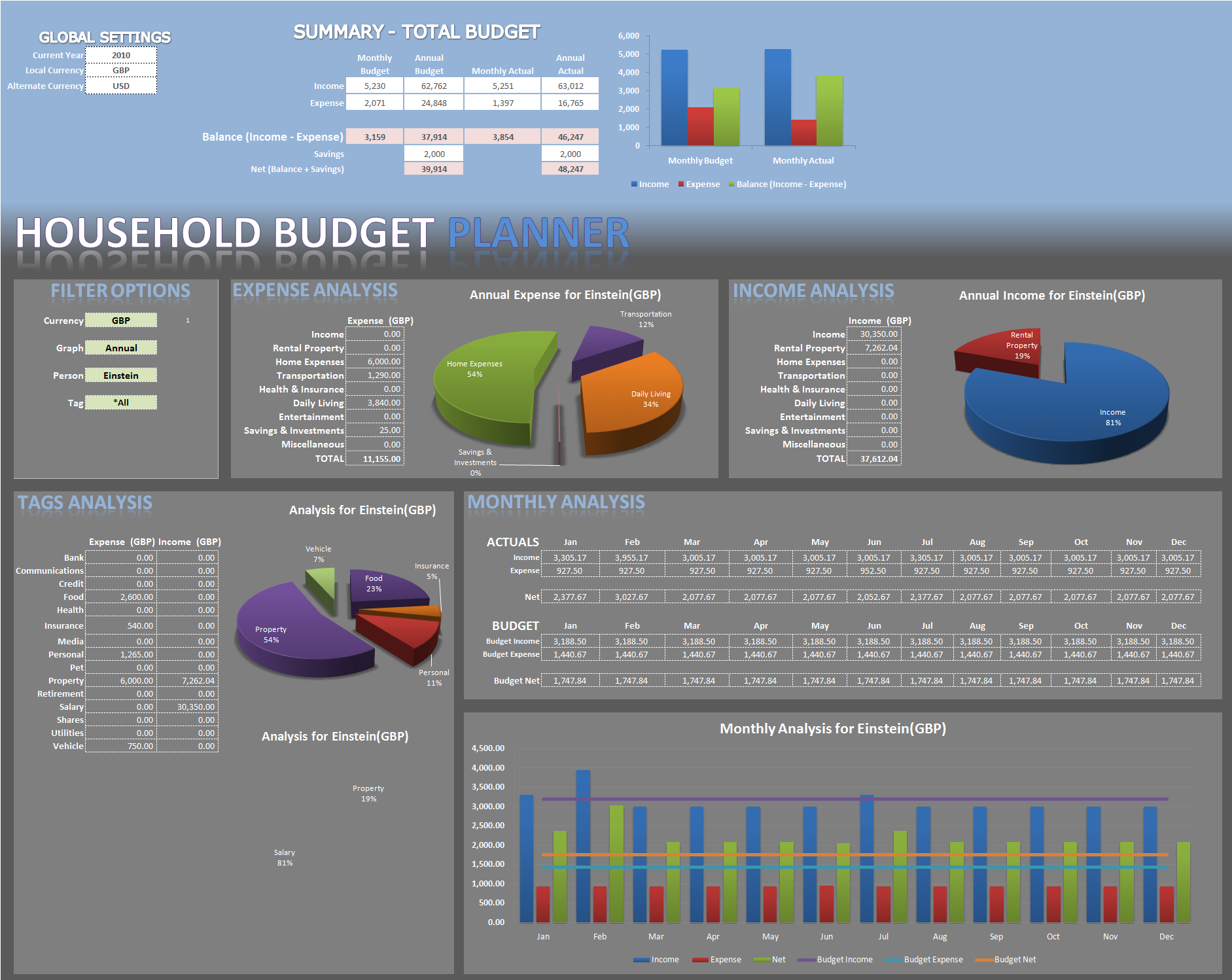 Excel Expense Sheet Template Free 1