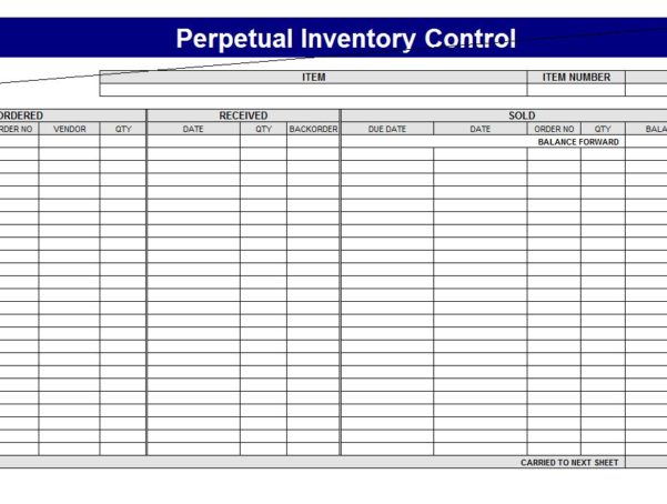 Excel Inventory Tracking