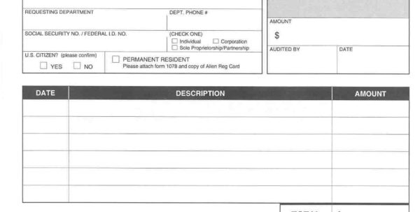 Expense Reimbursement Form Doc