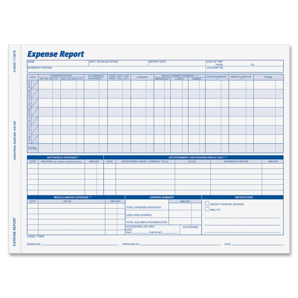 office expense report