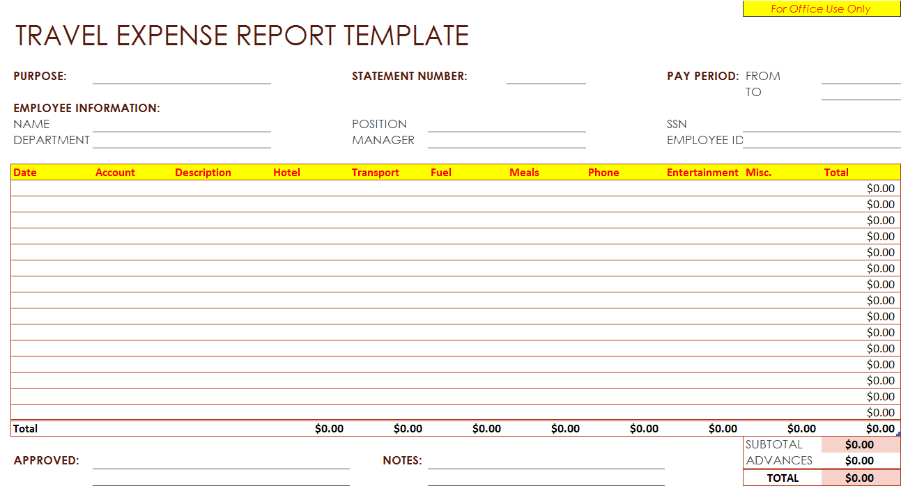 Expense Report Example Radiobiguatk Expense Report Forms Printable Expense  Report Example  Printable Expense Report