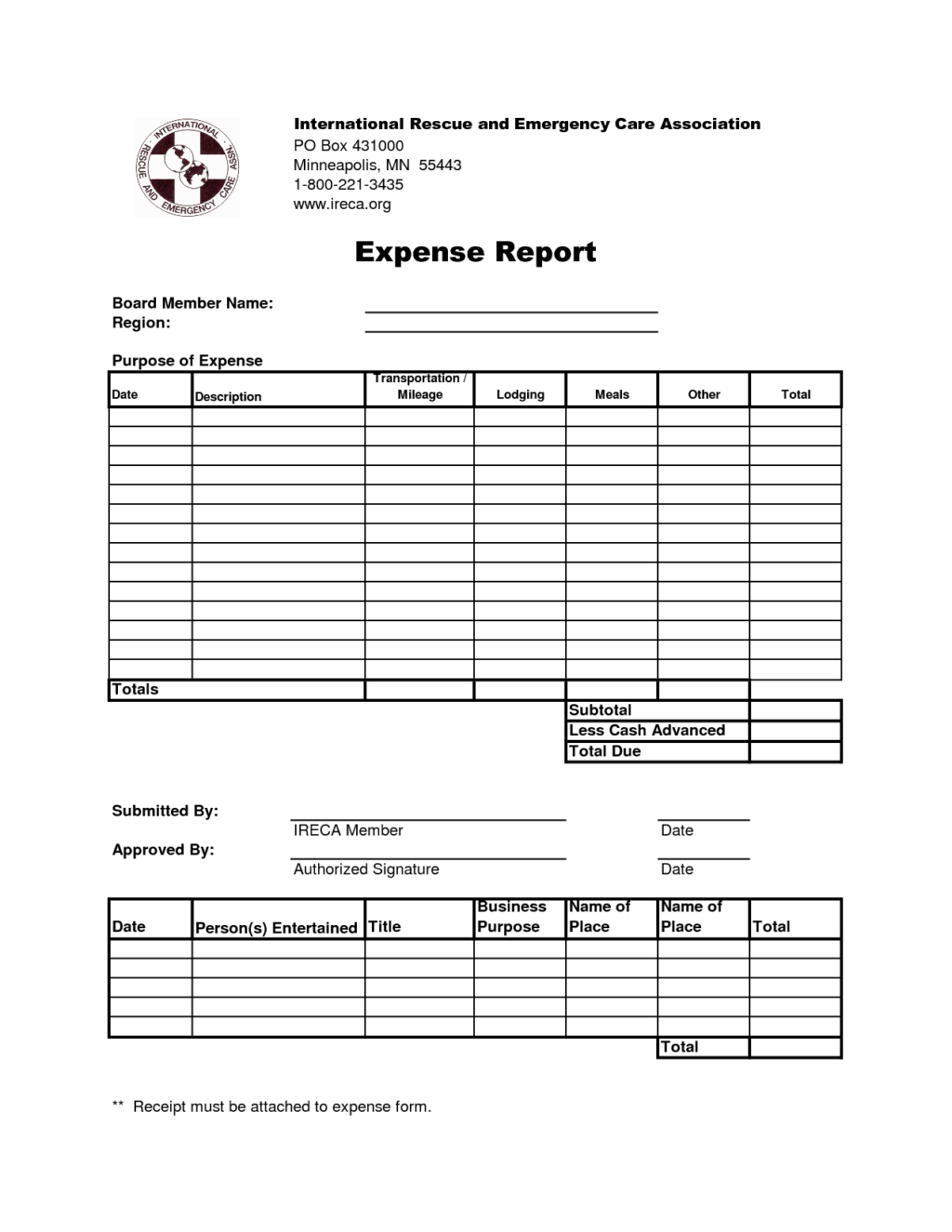 Expense Report Program