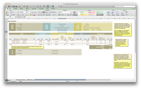 Expense Report Template Word 1