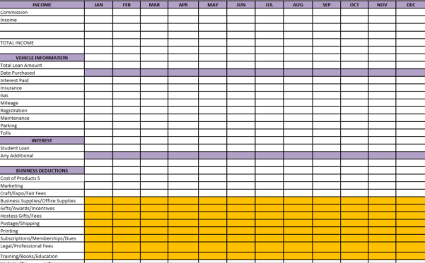 spreadsheet for tax expenses expense spreadsheet spreadsheet templates for busines business. Black Bedroom Furniture Sets. Home Design Ideas