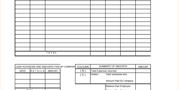 Free Expense Report Forms