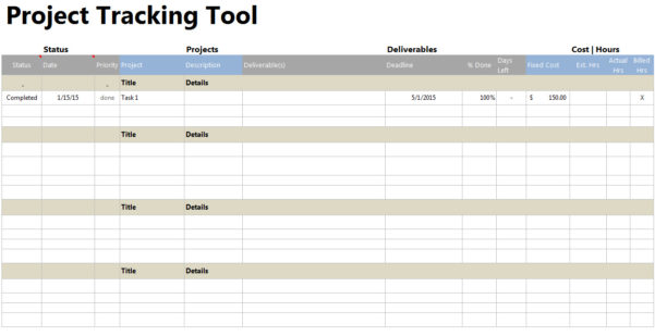 Free Project Expense Tracking Spreadsheet