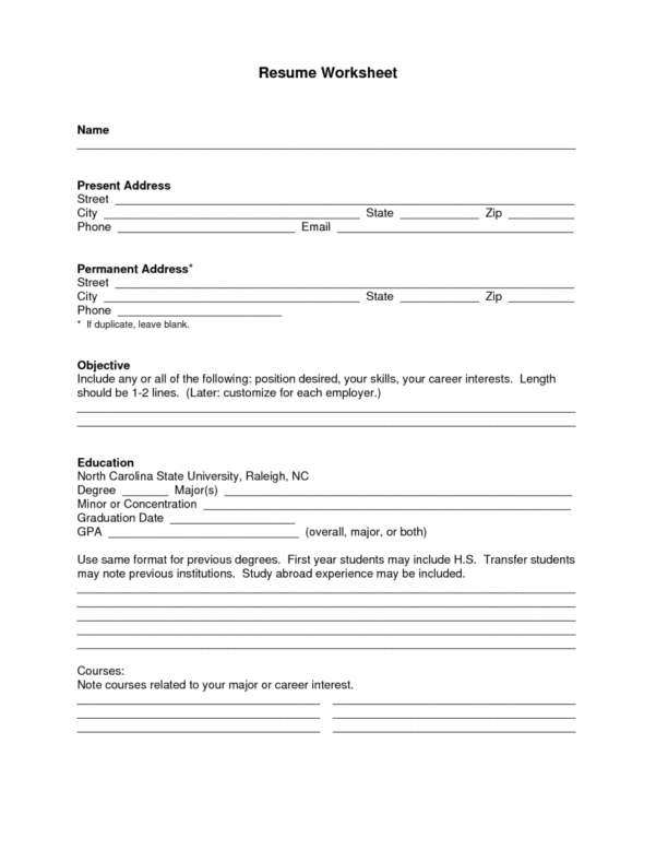 Free Worksheet Templates