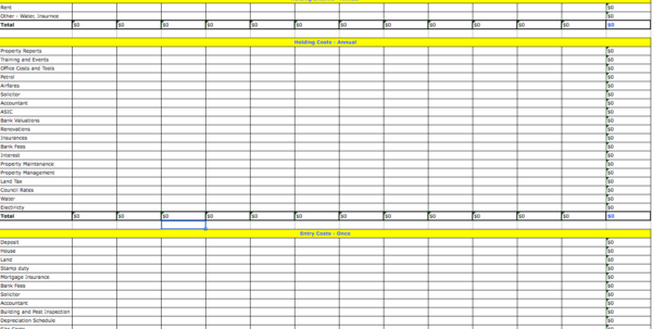 Itemized Deductions Spreadsheet