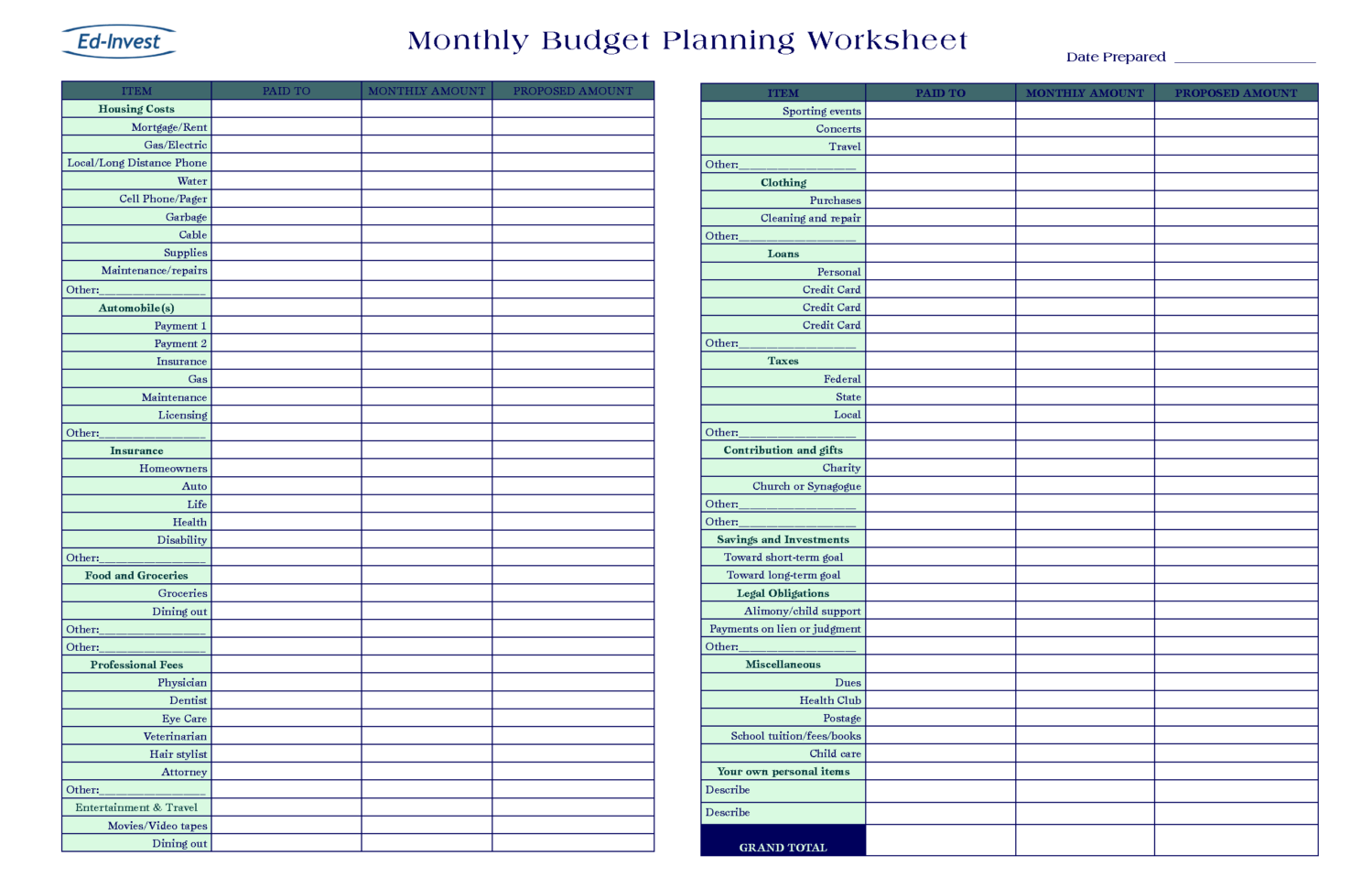 money management excel sheet financial planning excel