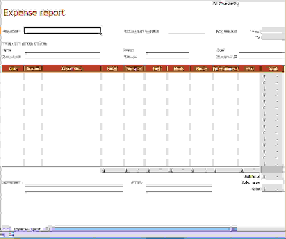 ... Microsoft Excel Expense Report Template  Microsoft Expense Report Template