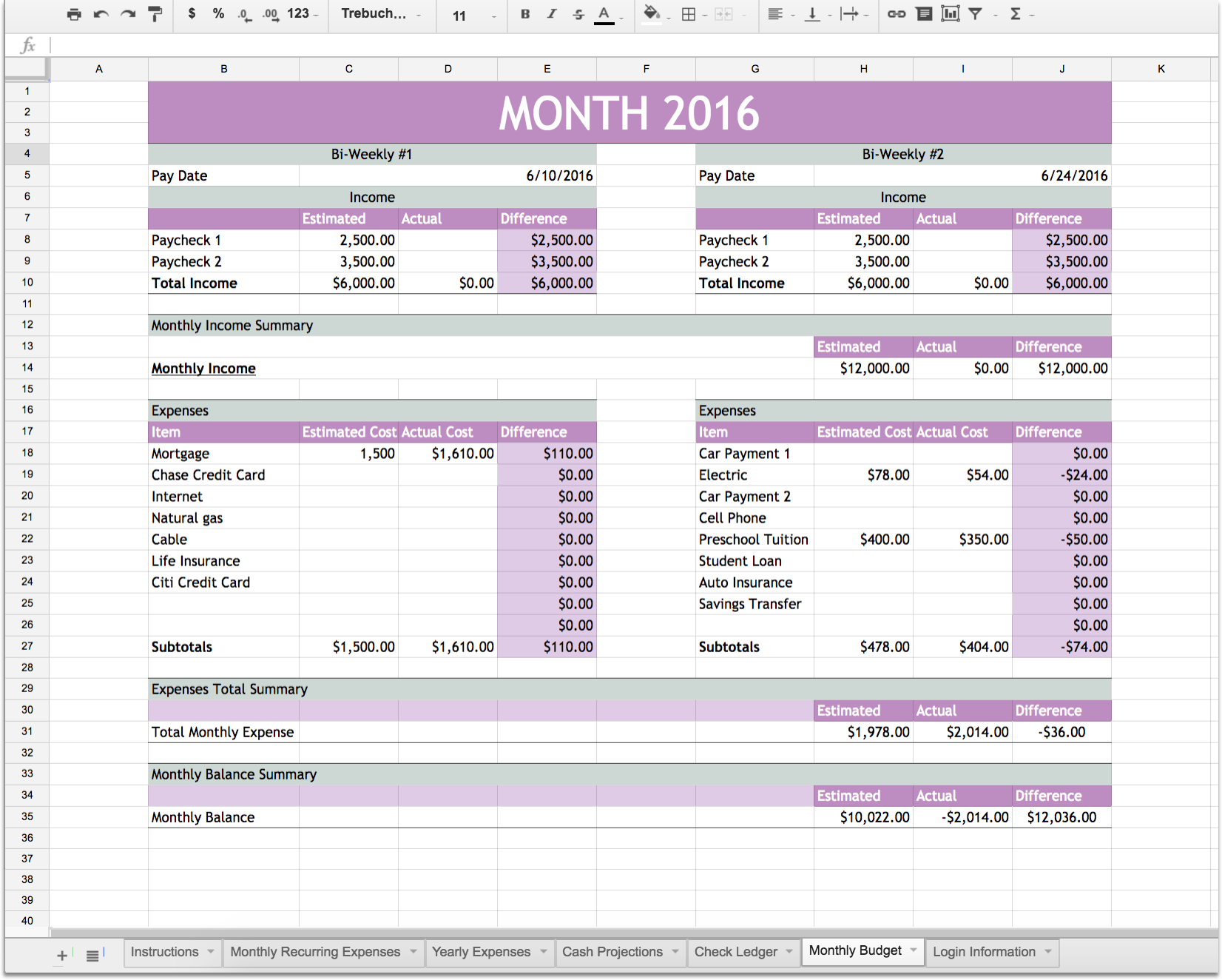 Help with business plan financials excel