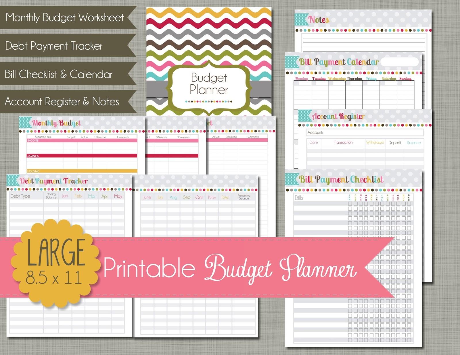 Printable Budget Planner 1