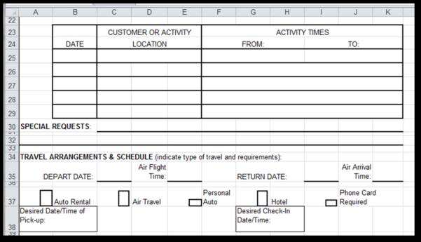 Sample Expense Reimbursement Form