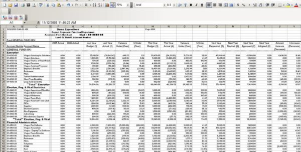 Simple Accounting Spreadsheet