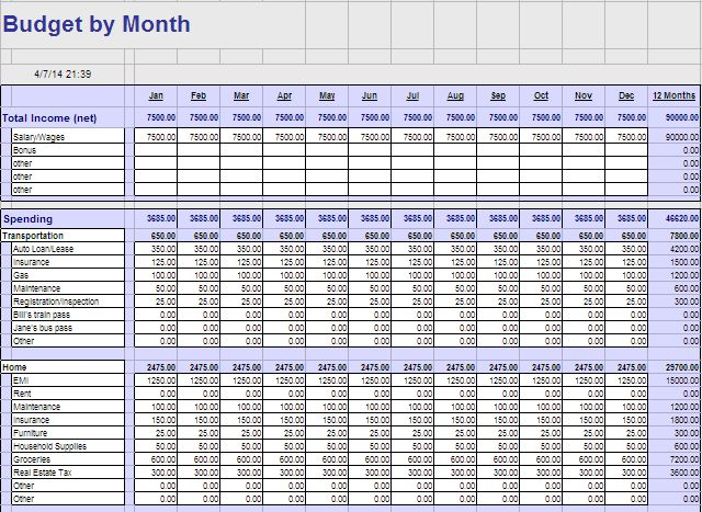 how to make a simple budget on excel