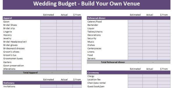 Simple Budget Template Excel 1