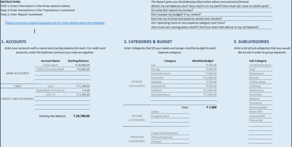 Simple Budget Template Excel Personal Financial Planning Template Free Finance Spreadsheet