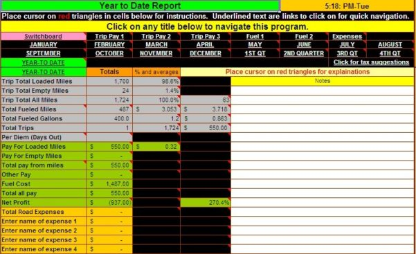 Simple Business Spreadsheet Accounting
