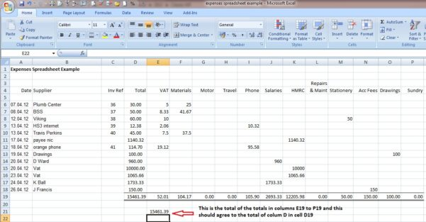 Small Business Accounting Spreadsheet Examples