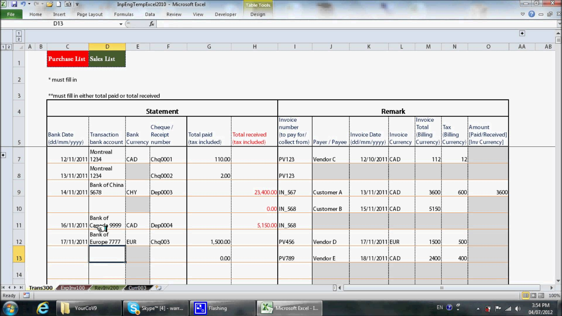 Small Business Bookkeeping Templates For Spreadsheet