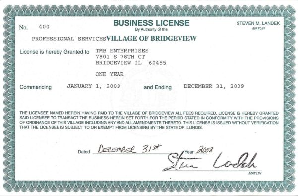 Apply For Business License
