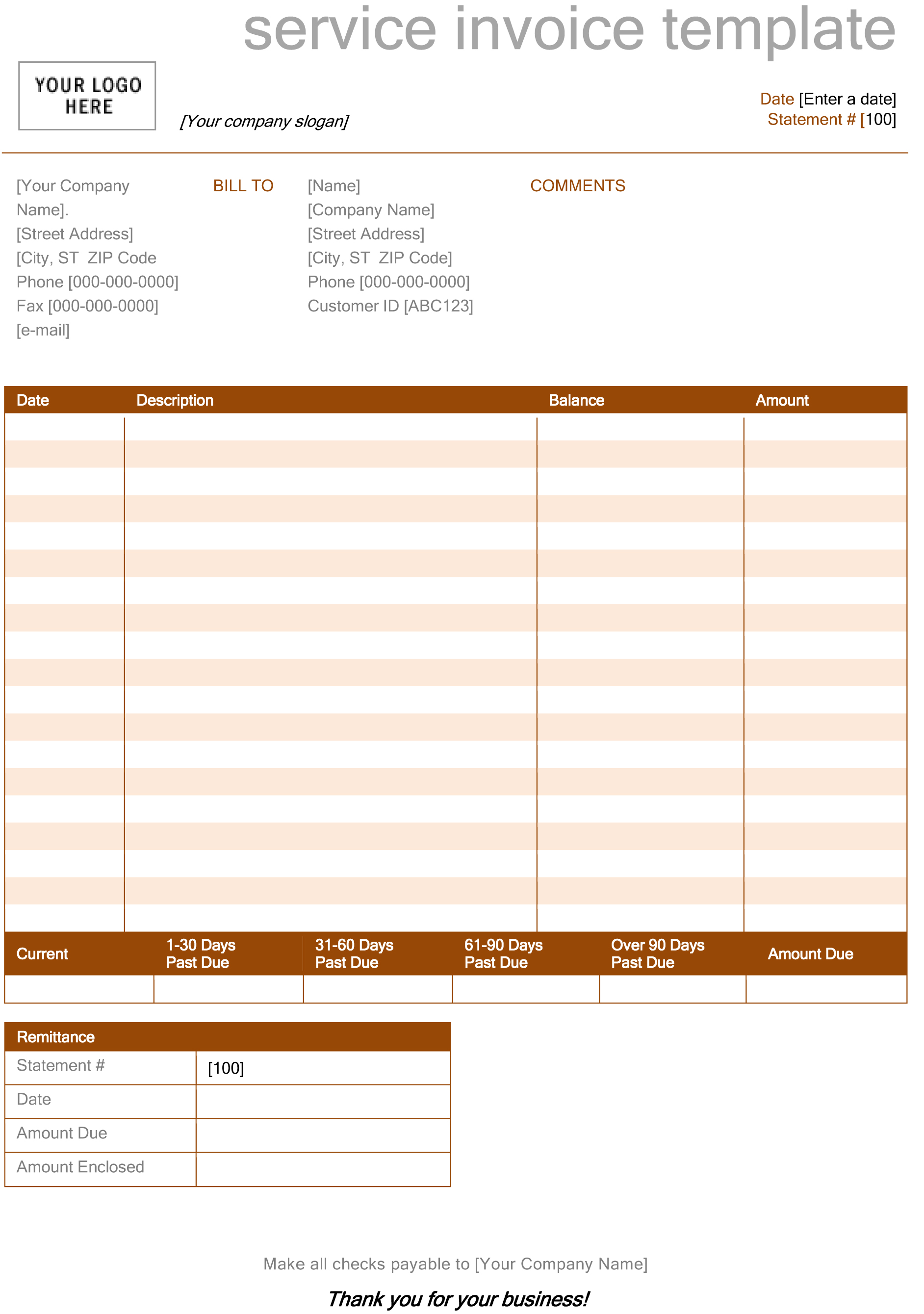 invoice template microsoft word spreadsheet templates for