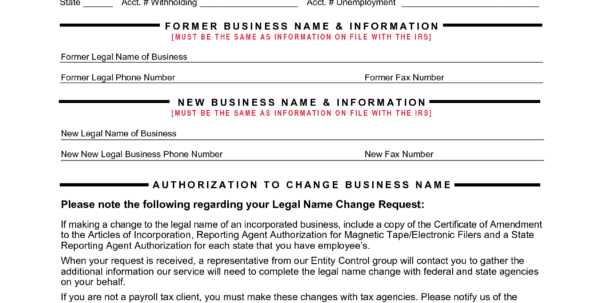 Company Forms Sample
