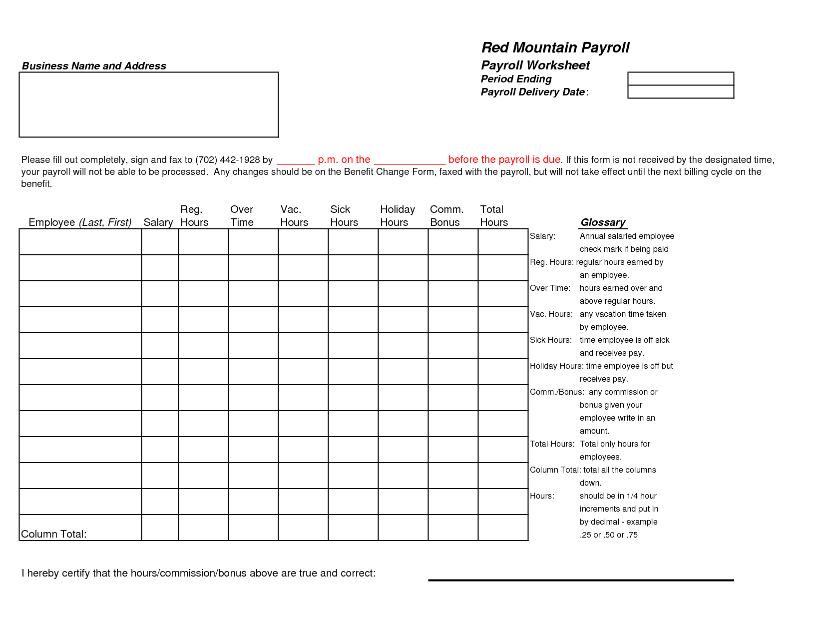 Excel Certified Payroll Template Free