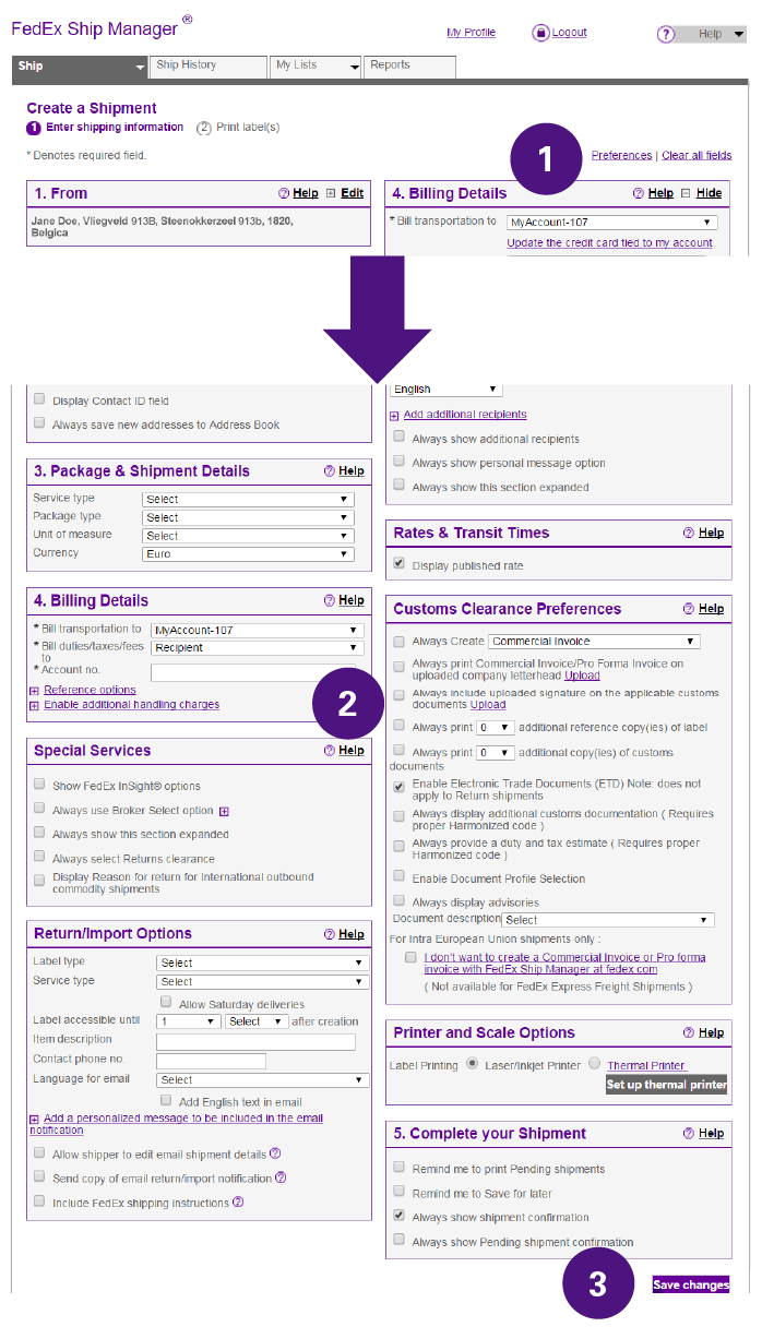 FedEx Invoices Online
