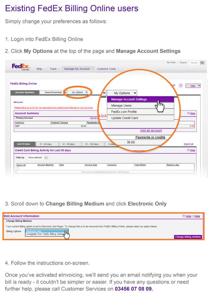 FedEx Invoice