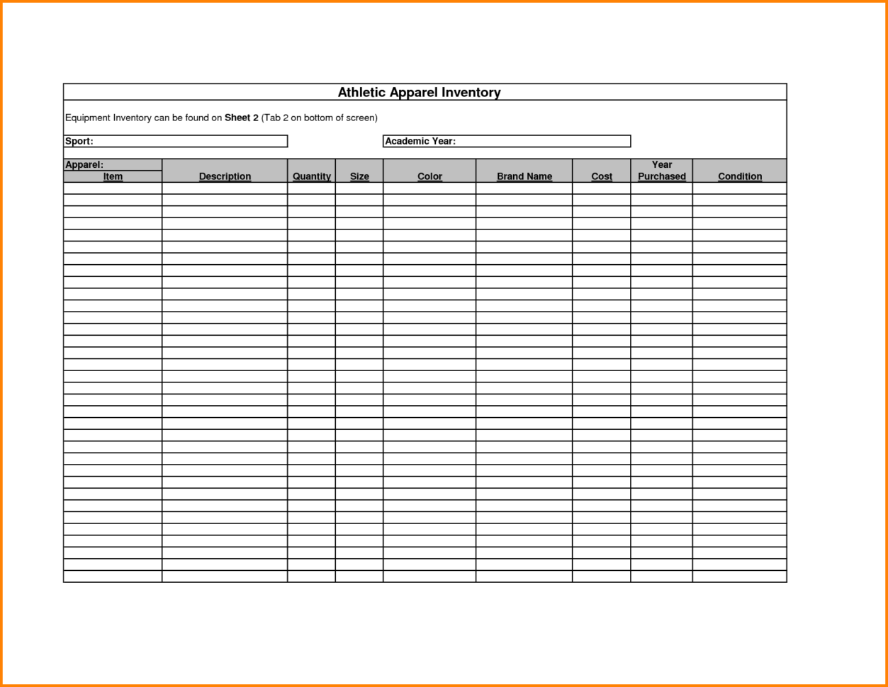 Excel Inventory Tracking Template Small Business Inventory Spreadsheet Template Inventory Management In Excel Free Download Free Printable Inventory Sheets How To Manage Inventory With Excel Equipment Inventory Template Inventory Sheet Template Free Printable  Free Printable Inventory Sheets Inventory Spreadsheet Template Spreadsheet Templates for Busines