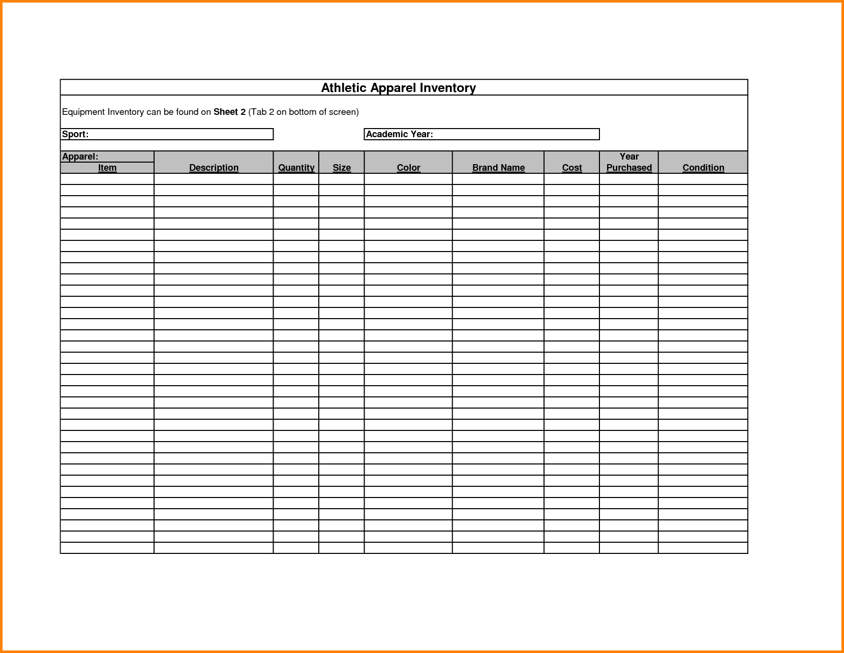 Free Printable Inventory Sheets Inventory Spreadsheet Template Spreadsheet Templates for Busines Spreadsheet Templates for Busines Inventory Sheet Template Free Printable