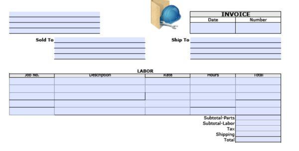 General Labor Invoice